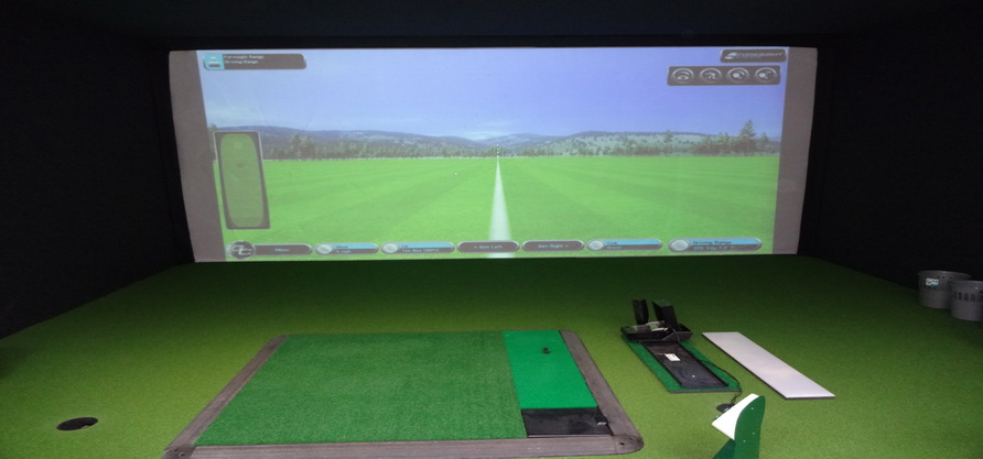 indoor golf screen launch monitor